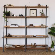 F&Co Timber and Steel Shelving unit