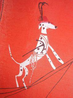 Swiss Dalmations, Vera Neumann silk scarf.  freekin amazin