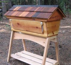 Build a small house For your Bees - 16 Bee Hive Plans | Build a Safe Place to Save the Bees by Pioneer Settler http://pioneersettler.com/best-bee-hive-plans