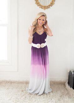 Gentle Fade Maxi Dress in Purple