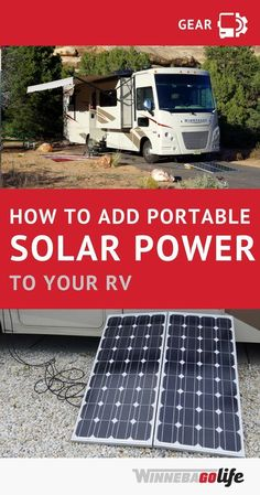 Adding a portable solar cell system to your RV is a learning process, but it's more simple than you think and worth it to have an independent power source. Here we share a simplified solution for adding solar power – once you read over the design and inst Portable Solar Power, Solar Energy System, Portable Solar Panels, Rv Camping Tips, Camping Car, Camping Ideas, Camping List, Family Camping, Outdoor Camping