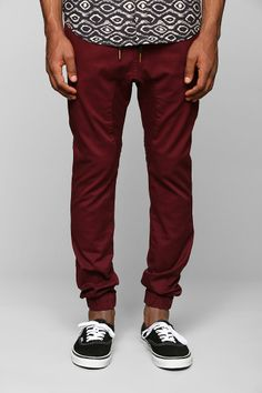 Jogger pant for weekend day casual--brunch errands.  Will carry through all seasons.  ZANEROBE Sureshot Burgundy Jogger Pant.  There's a good alternative in gray if these are too out there.