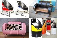How to make a Steel Drum Chair - كيف تصنع كراسي ومفروشات أخرى من براميل النفط