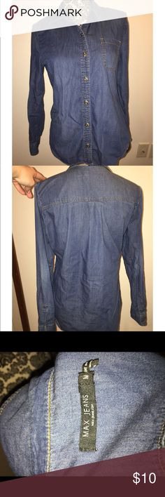 Max Jeans Chambre Shirt Max jeans chambre shirt. Size medium. Max Jeans Tops Button Down Shirts