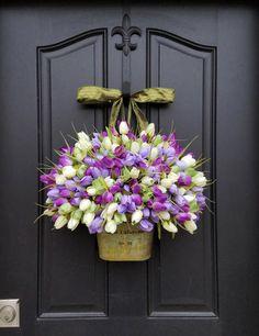 Items similar to Spring Wreaths Tulips Farmhouse Door Wreaths Tulips Mother's Day Wreath Easter Wreaths Easter Tulips Trending Wreaths Shabby Chic Decor on Etsy Country Chic Decor, Shabby Chic Decor, Spring Door Wreaths, Easter Wreaths, Front Door Decor, Wreaths For Front Door, Mothers Day Wreath, Hydrangea Wreath, Tulip Wreath