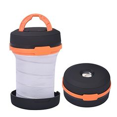 Yazer Collapsible Portable Lantern and Flashlight Light Bright Mini with Handle for Camping,Hiking,Fishing,Emergencies(Pack of 2) (Orange) * Check this awesome product by going to the link at the image.