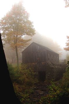 *Sawmill in the autumn mist (by DreamersRealm)