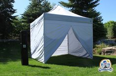 Undercover 10 x 10 Commercial Popup Canopy with Carry Bag   Four Sidewalls