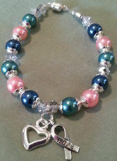 a36df2c39 Glass Awareness Fashion Bracelets | eBay. Thyroid CancerFashion BraceletsCancer  AwarenessTealTurquoise