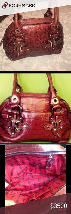 Mark Cross satchel Alligator bag in good condition, some wear on handles, interior excellent, clean inside and out mark cross Bags Satchels