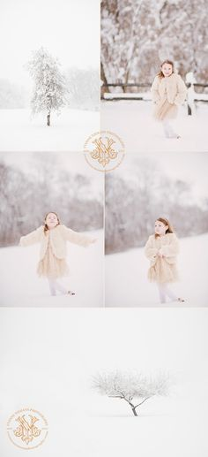 Fun Athens, GA Child Portraits in the Snow  This outfit would work with or without snow. For snow portraits, you can go for a pop of color to make you stand out OR you can go with winter whites and creams to give you some beautiful pure images.   photography by Yvonne Niemann Photography