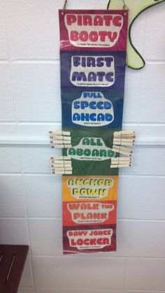 Discipline clip up/clip down chart for pirate themed classroom. Fun idea Classroom Setup, Future Classroom, Classroom Organization, Classroom Management, Pirate Day, Pirate Theme, House Design Photos, Cool House Designs, Teach Like A Pirate