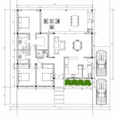 Town House Floor Plan, Round House Plans, Modern House Plans, Small House Plans, Sims House Plans, House Layout Plans, House Layouts, Casas The Sims Freeplay, Villa Plan