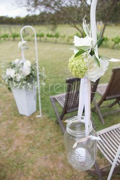 Agee Jar on shepherds crook from centrepiece.co.nz ... so cute! Centerpieces, Table Decorations, Jars, Furniture, Home Decor, Decoration Home, Pots, Room Decor, Center Pieces