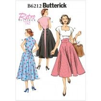Misses Dress Butterick Sewing Pattern No. 6212.