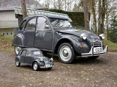 It's a boy, as toy, 2 CV's !