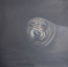 """This time last year I was preparing for a wonderful exhibition called the Poetry of Animals with Rowena Scotney Feltings at Morvah Schoolhouse This painting of the Grey Seal was partly inspired but this wonderful poem byt Mary Oliver and partly by living near a large colony of Grey Seals <3   """"The Return"""" When I went back to the sea it wasnt waiting. Neither had it gone away. All its musics were safe and sound; the circling gulls were still a commonplace the fluted shells rolled on the shore…"""