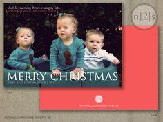 Printable Christmas Card-Naughty List-Custom Family Photo-. $15.00, via Etsy.