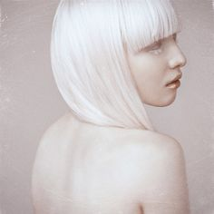 Nastya (Kiki) Zhidkova, Russian albino model