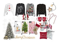 """xmas"" by lenka-hirmanova on Polyvore featuring GE, River Island, JDY, Casetify, Grandin Road, Topshop and Designs Combined"
