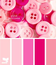 pink buttons #pink #color #colours