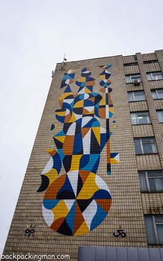 Street art in Kiev in the Ukraine is some of the best you could see anywhere with amazing wall murals all over the city.