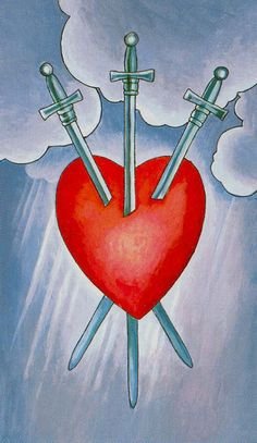 Detailed Tarot card meaning for the Three of Swords including upright and reversed card meanings. Access the Biddy Tarot Card Meanings database - an extensive Tarot resource. Amor Aries, Tarot Significado, Tarot Gratis, Rider Waite Tarot, Tarot Astrology, The Hierophant, Daily Tarot, Tarot Card Meanings, Learn Art