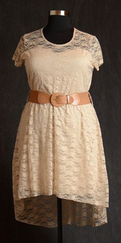 Latte Lace Hi/Lo Dress & Belt