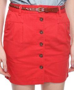 Buttoned Skirt w/ Belt