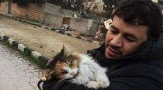 Mohammad Alaa Aljaleel is the Cat Man of War-Torn Aleppo in Syria. #ilgattarodaleppo #cats #abndonedcats #straycats #animalrescue #catmansyria #catsanctuarysyria