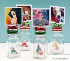 DIY Salt Shaker Christmas Photo Holders