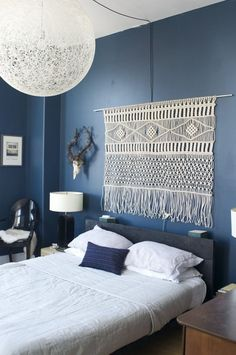 Macrame Headboard Jenny and Chris Merge Styles in Williamsburg — House Call | Apartment Therapy