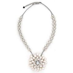 NOVICA Unique Bridal Pearl Necklace (310 RON) ❤ liked on Polyvore featuring jewelry, necklaces, beaded, glass bead, pearl necklace, adjustable necklace, choker necklace, pearl jewelry and pearl choker necklace