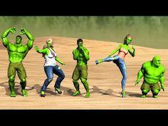 Hulk Finger Family Nursery Rhyme for Children   Hulk Cartoons for Kids