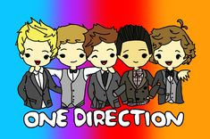 One Direction as Cartoons | One Direction Cartoon coloured by Gilly-Bird on deviantART