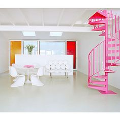 Pink stairs - Apartment Therapy