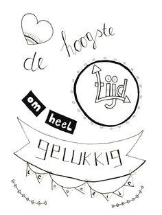 Gemaakt tijdens de workshop Handletteren Basis bij Sterrig.nl