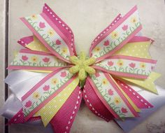 Spring Bowtique Bow by HodgePodgeBowtique on Etsy, $10.00