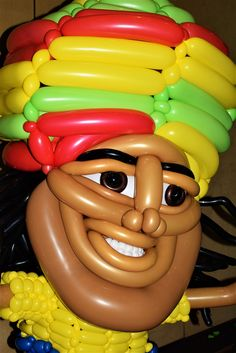 Rasta Man Large Balloon Sculpture By Las Vegas Twister Jeremy Johnston Of Atomic Company