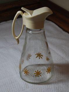 Vintage Log Cabin Atomic Starburst Syrup Bottle G2-005 by GrilliantCreatives on Etsy
