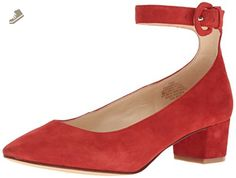 Nine West Women's Brianyah Suede Dress Pump, Red, 6.5 M US - Nine west pumps for women (*Amazon Partner-Link)