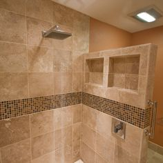 Showers Without Doors Design Ideas, Pictures, Remodel, and Decor Bathroom Design Small, Bathroom Interior Design, Showers Without Doors, Master Bathroom Shower, Bathroom Vanities, Small Shower Remodel, Dream Bathrooms, Chic Bathrooms, Bathroom Modern