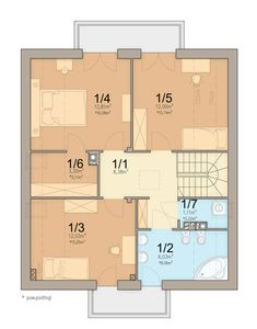 DOM.PL™ - Projekt domu ARN Tamarillo 3 CE - DOM RS1-74 - gotowy koszt budowy Home Fashion, Floor Plans, How To Plan, House Styles, Houses, Floor Plan Drawing, House Floor Plans