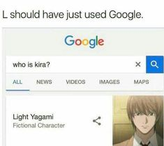 L you should use that😂😂 - death note Anime Fr, I Love Anime, Shinigami, Dankest Memes, Funny Memes, Hilarious, Rap Do L, Death Note Funny, Good Cartoons