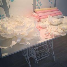 Еще раз о рабочем месте ✂️. #бумажныецветы #бумажныйдекор #рабочееместо #работа #гигантскиецветы #пионы #пиондекор #peonydecor