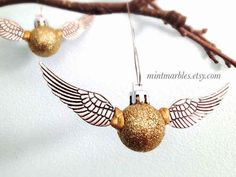 Golden Snitch Tree Ornament... if someone would like to buy this for me they would be my friend forever :D