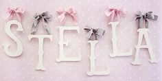 Storybook Wooden Letters