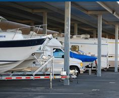 Caravan, boats and motorhomes are often stored together. Motorhome, Caravan, Boats, Park, Storage, Purse Storage, Rv, Ships, Larger