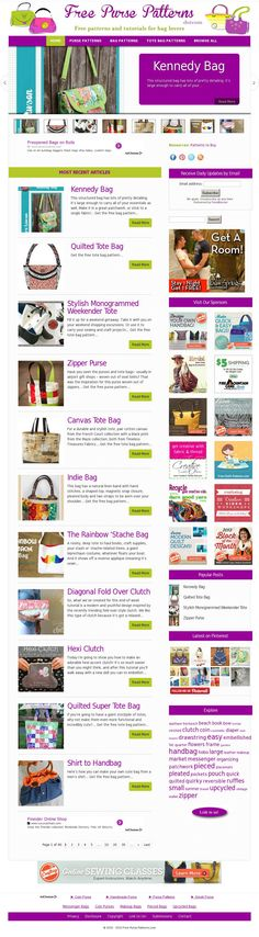 Visit Free-Purse-Patterns.com and choose from hundreds of free patterns and tutorials - http://www.free-purse-patterns.com/