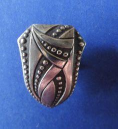 Shoe Button Cover, Vintage Pat. 1922 Ornamental Cover For Shoe Button